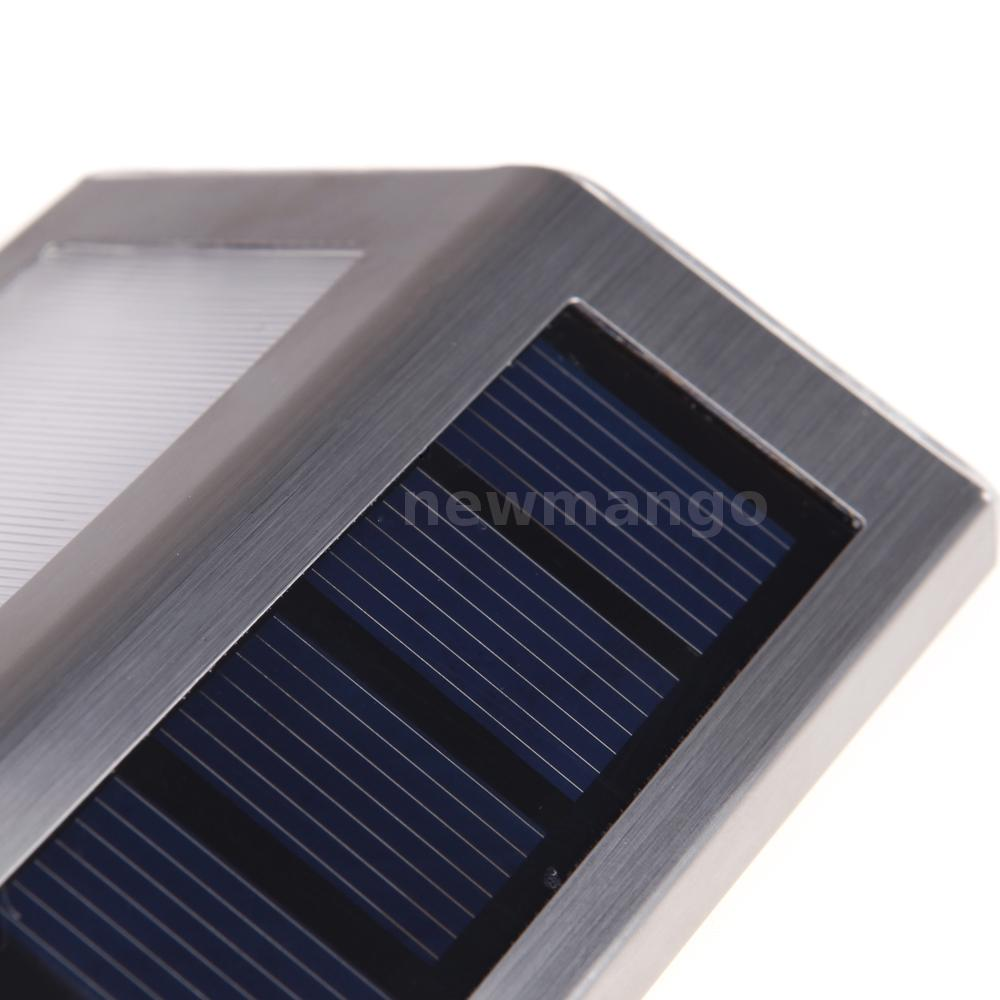 LED Solar Powered Outdoor 2 LED Lights Path Stair Step Lights Water Resistant