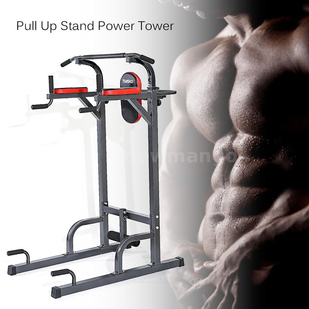 Power Tower Pull Push Chin Up Bar Exercise Dip Station Home Gym Fitness