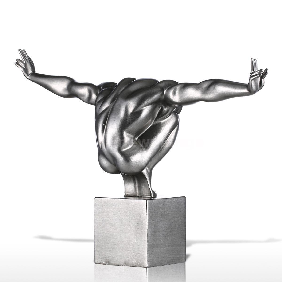 Tooarts Diver Fibergl Modern Sculpture Home Decor Diving Figurine Statue Y6d4