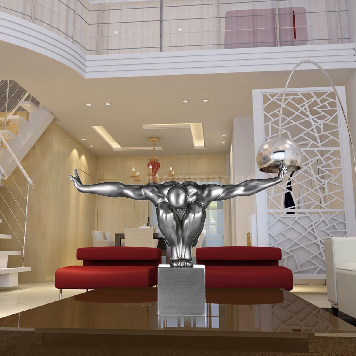 Gifts tooarts diver fiberglass modern sculpture home decor for Modern home decor gifts