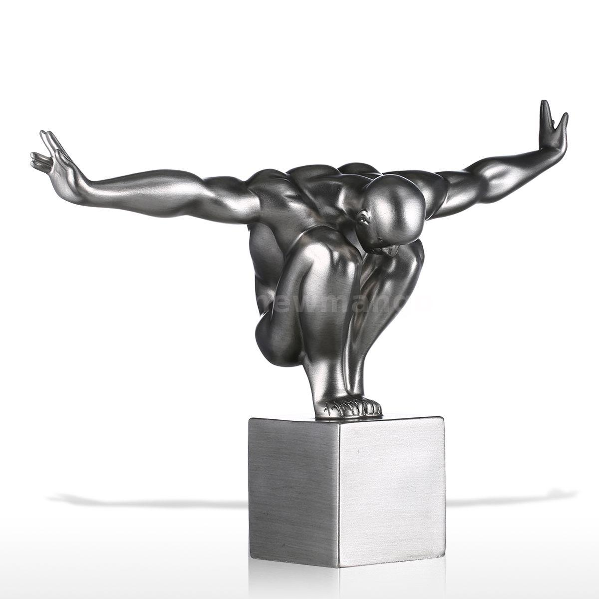 Gifts tooarts diver fiberglass modern sculpture home decor diving ebay - Statue deco moderne ...