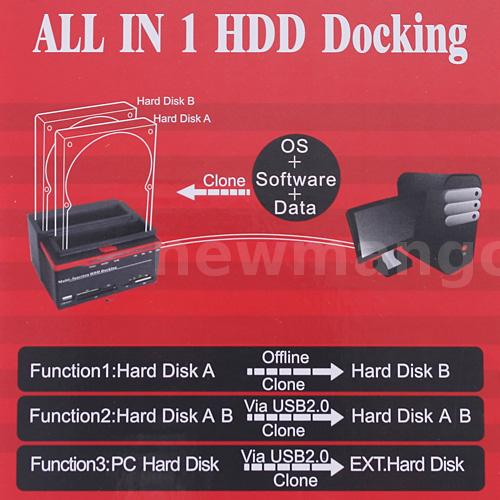 multi function hdd docking manual