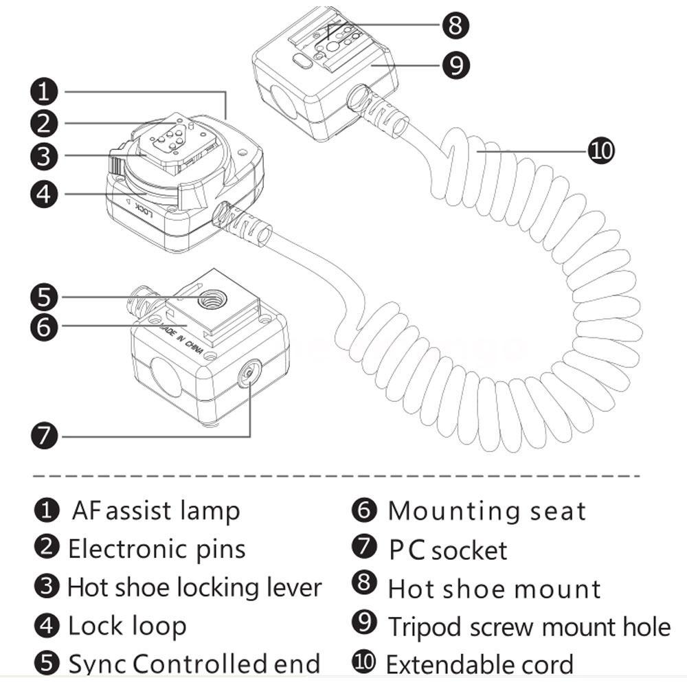 Viltrox OC-E3 E-TTL Off Camera Shoe Cord for Canon DSLR