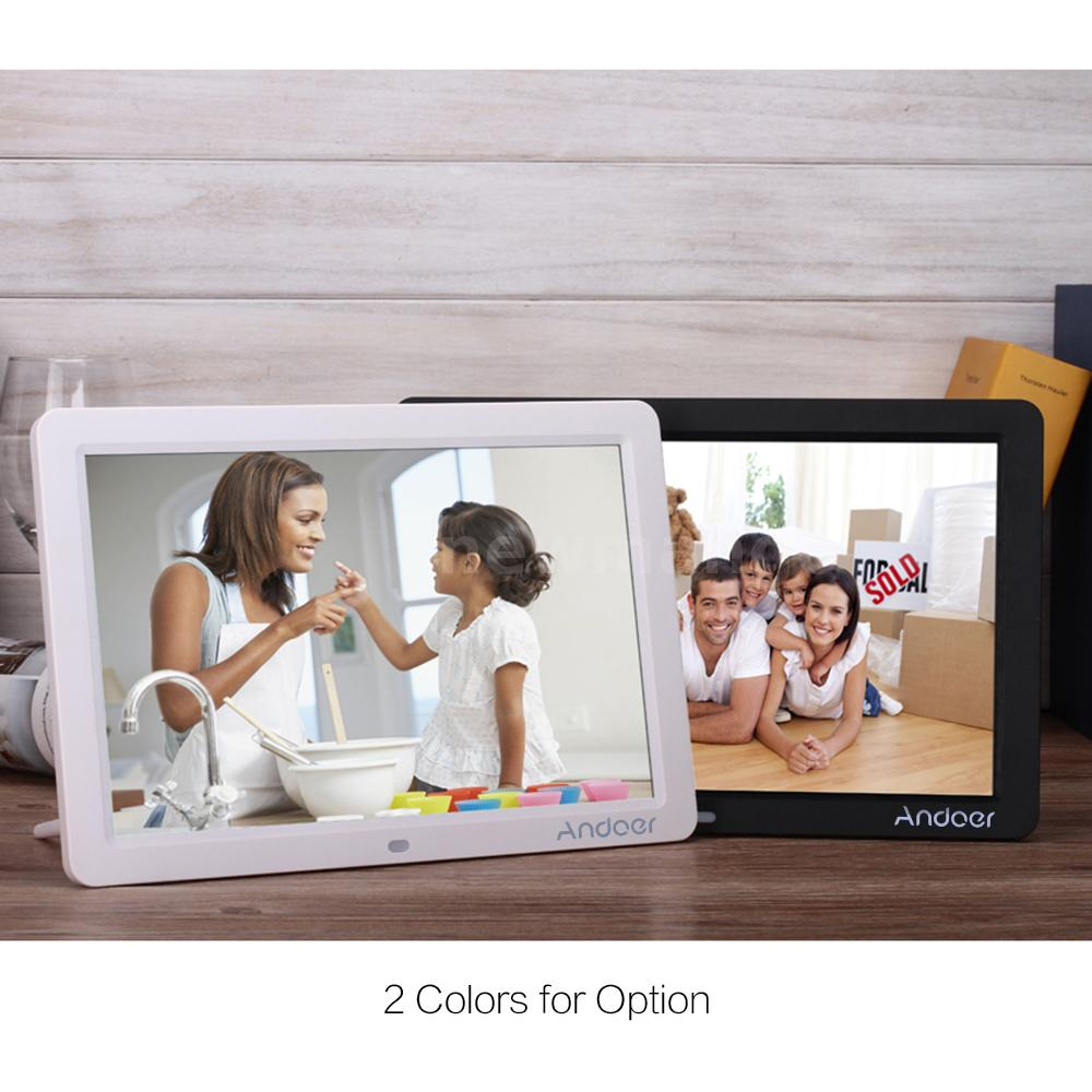 12inch hd 169 led digital photo frame picture movie mp4 player andoer 12inch hd digital photo frame picture album movie mp3 mp4 player remote control jeuxipadfo Image collections