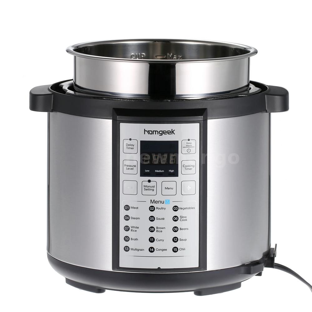 On Sale Electric Pressure Cooker ~ Homgeek qt electric pressure cooker stainless steel
