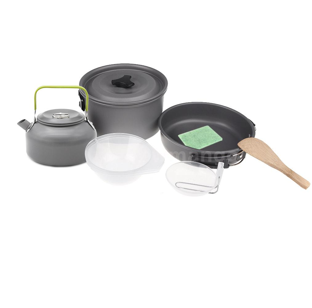 Cooking With A Kettle ~ Aluminum oxide camping pot backpacking cooking kettle set
