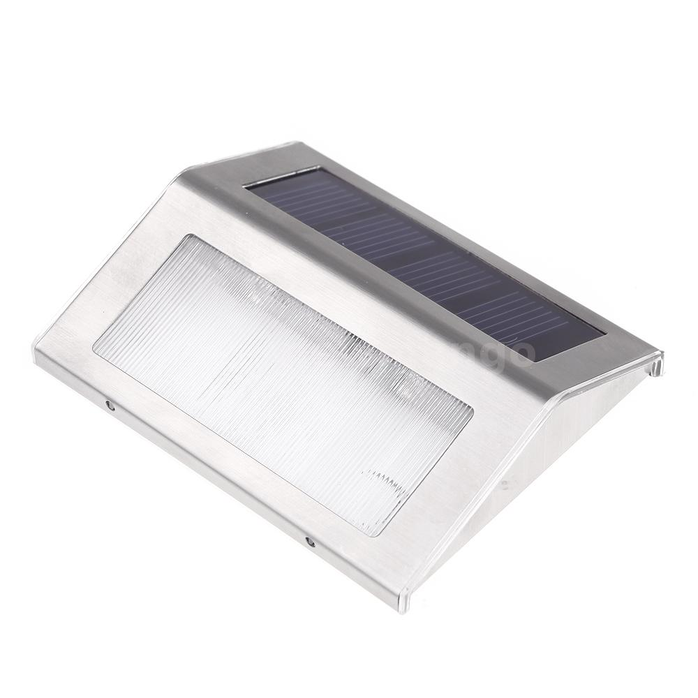 LED Solar Powered Outdoor 2 LED Lights Path Stair Step