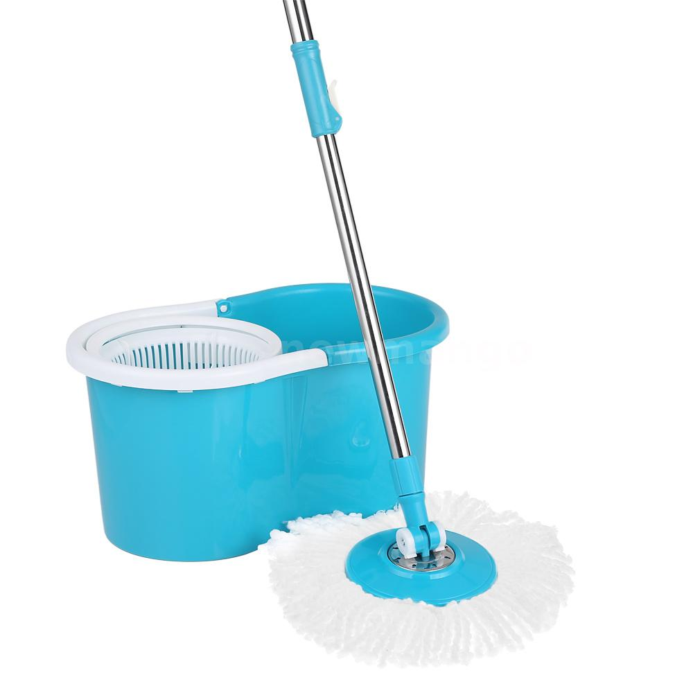 EasyWring Microfiber Spin 2 Dry Mop and Bucket Set Floor ...