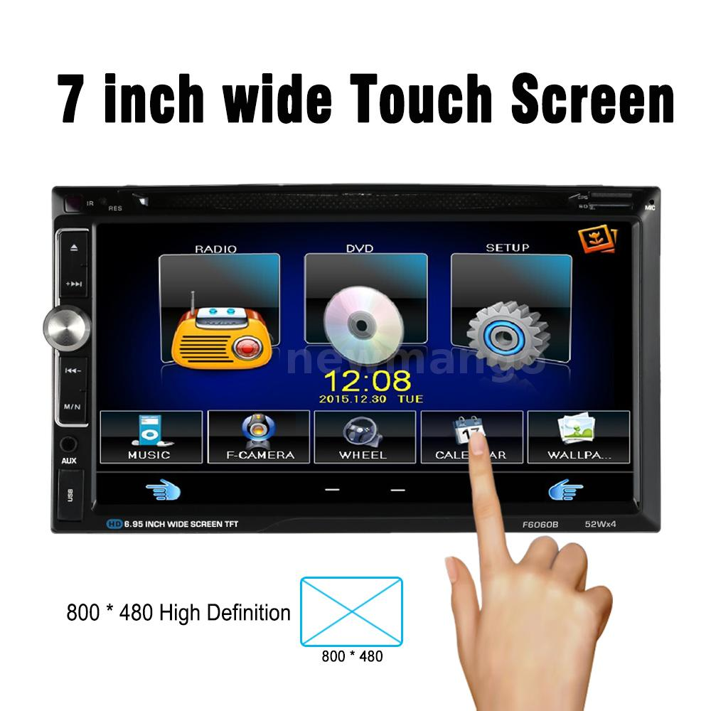"7"" TOUCH SCREEN 2 Din HD In Dash Car Stereo DVD Player"