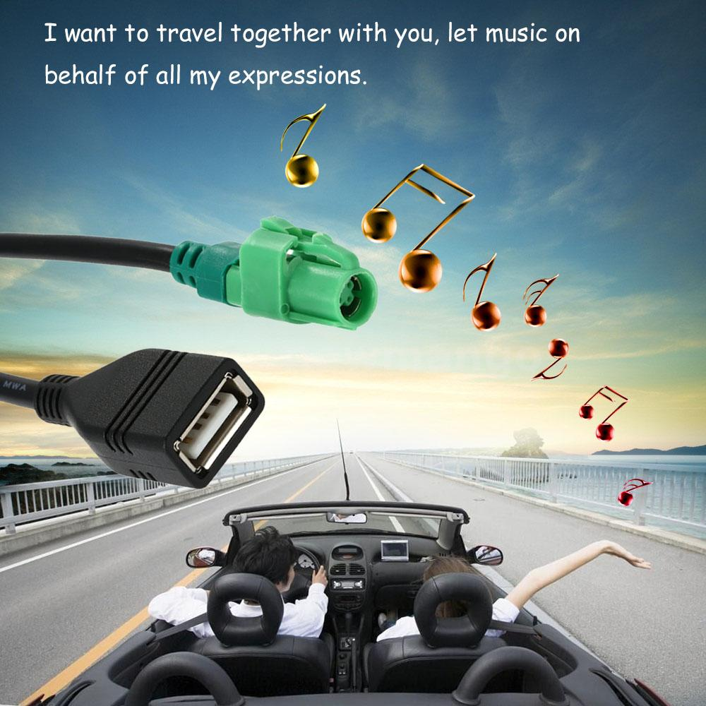 usb input cable wire harness cd player aux adapter for bmw 3 5 e90 does not apply