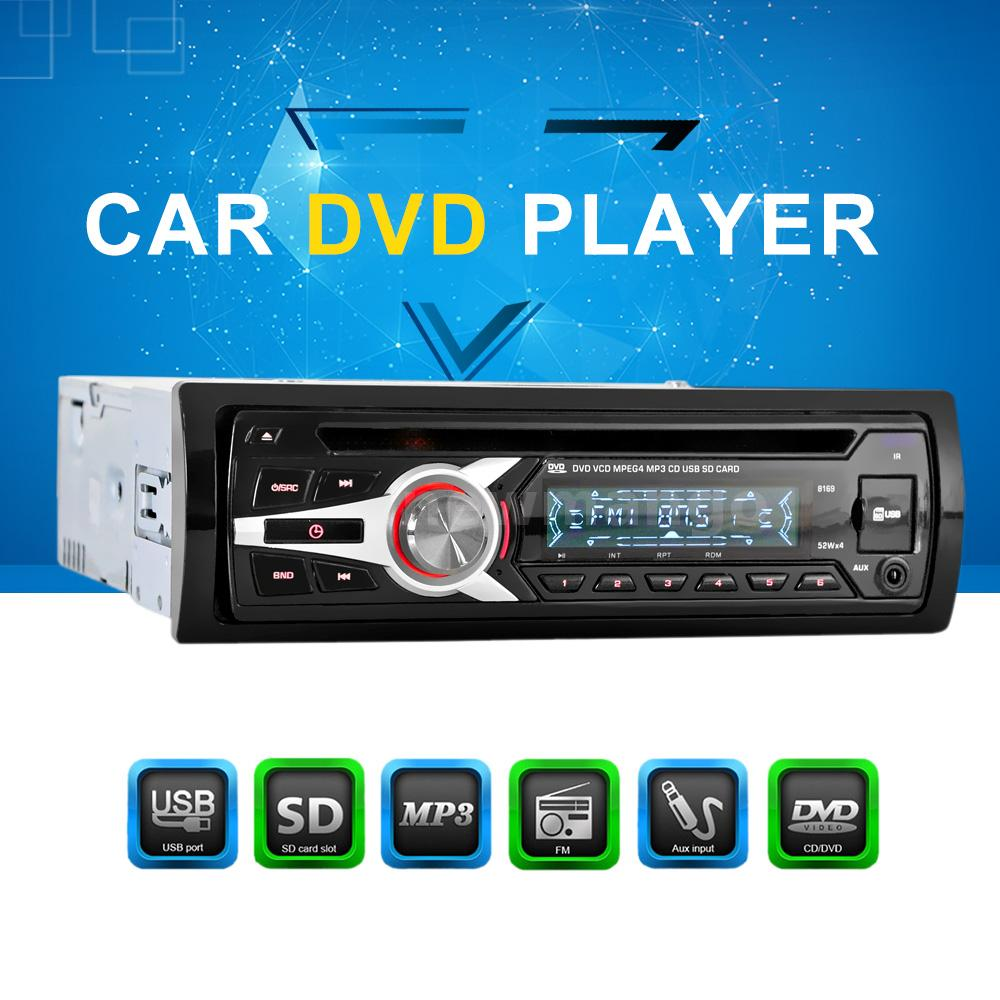 car cd dvd mp3 player radio audio player fm aux input usb. Black Bedroom Furniture Sets. Home Design Ideas