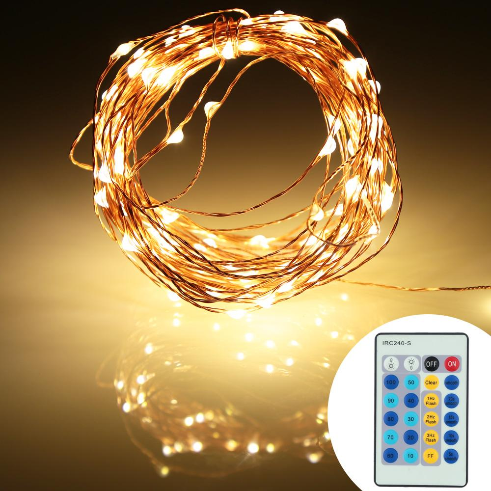 10m Copper Wire 100led Christmas String Fairy Light With