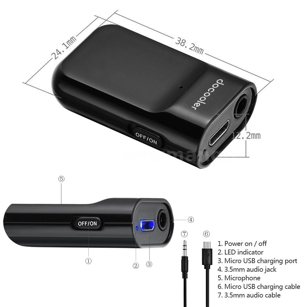 Bluetooth Music Receiver Ideal For In Car Or In Home: 3.5mm Stereo Bluetooth 3.0 + EDR Music Receiver Kits For Car Home Audio System