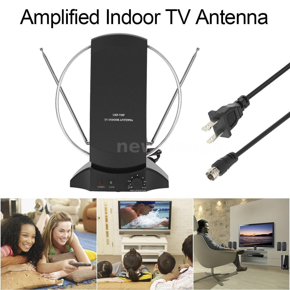 digital indoor amplified tv hdtv dtv antenna uhf vhf fm. Black Bedroom Furniture Sets. Home Design Ideas