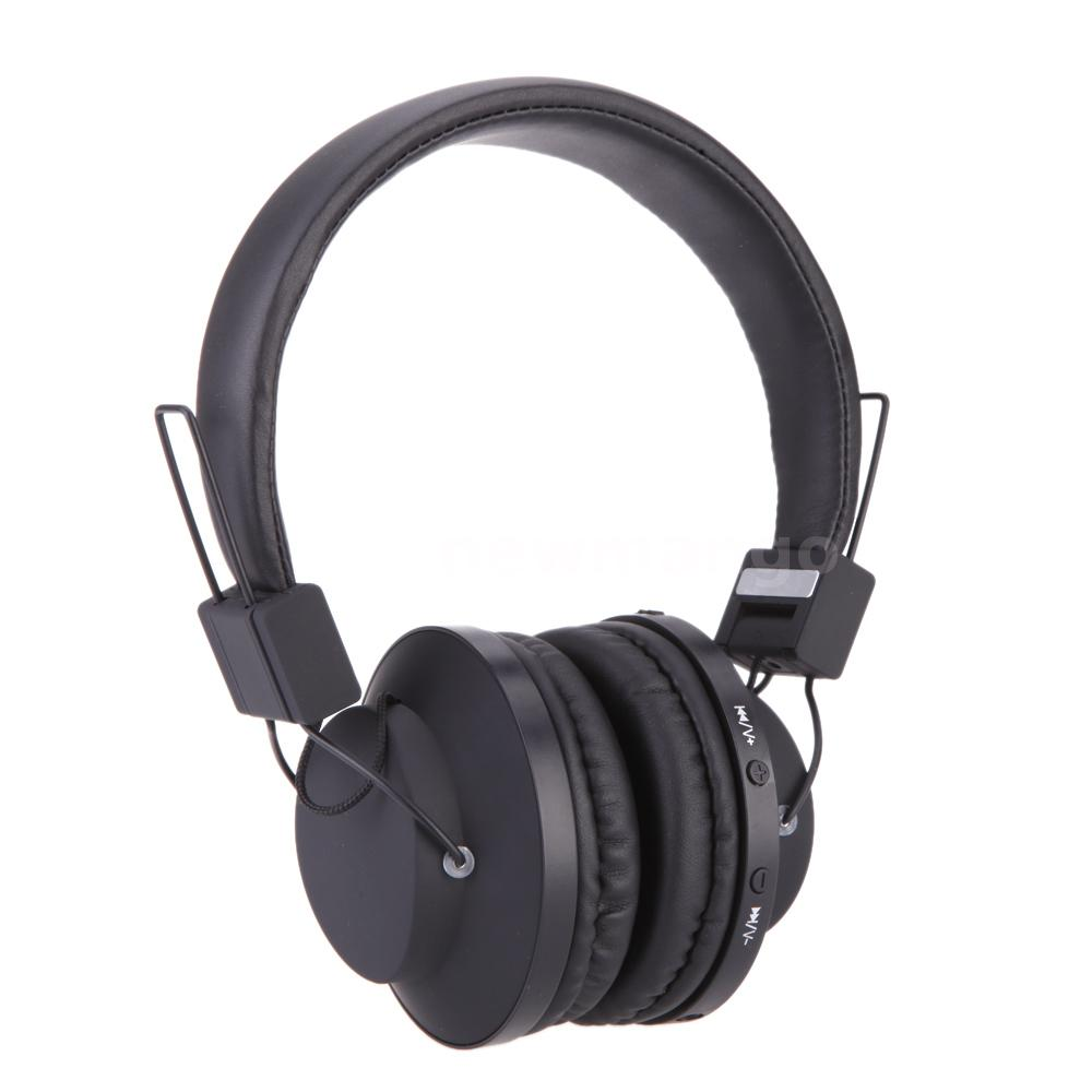 Over Head Noise Cancelling Wireless Bluetooth Stereo Mic Headset Headphones 6QM2