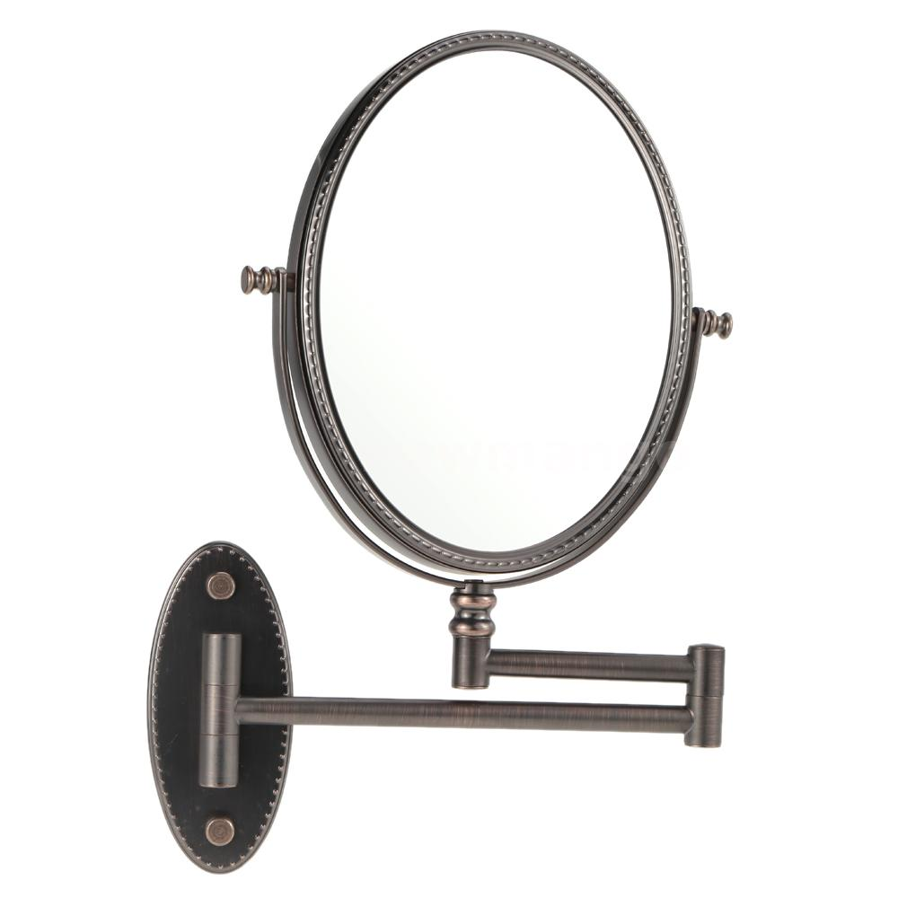 oval 7x magnification hanging makeup mirror wall mounted round dual sided w5n4 ebay. Black Bedroom Furniture Sets. Home Design Ideas