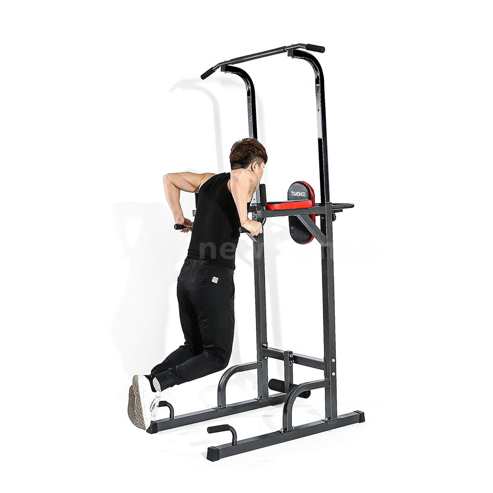 dip station power tower stand pull push up bar fitness. Black Bedroom Furniture Sets. Home Design Ideas