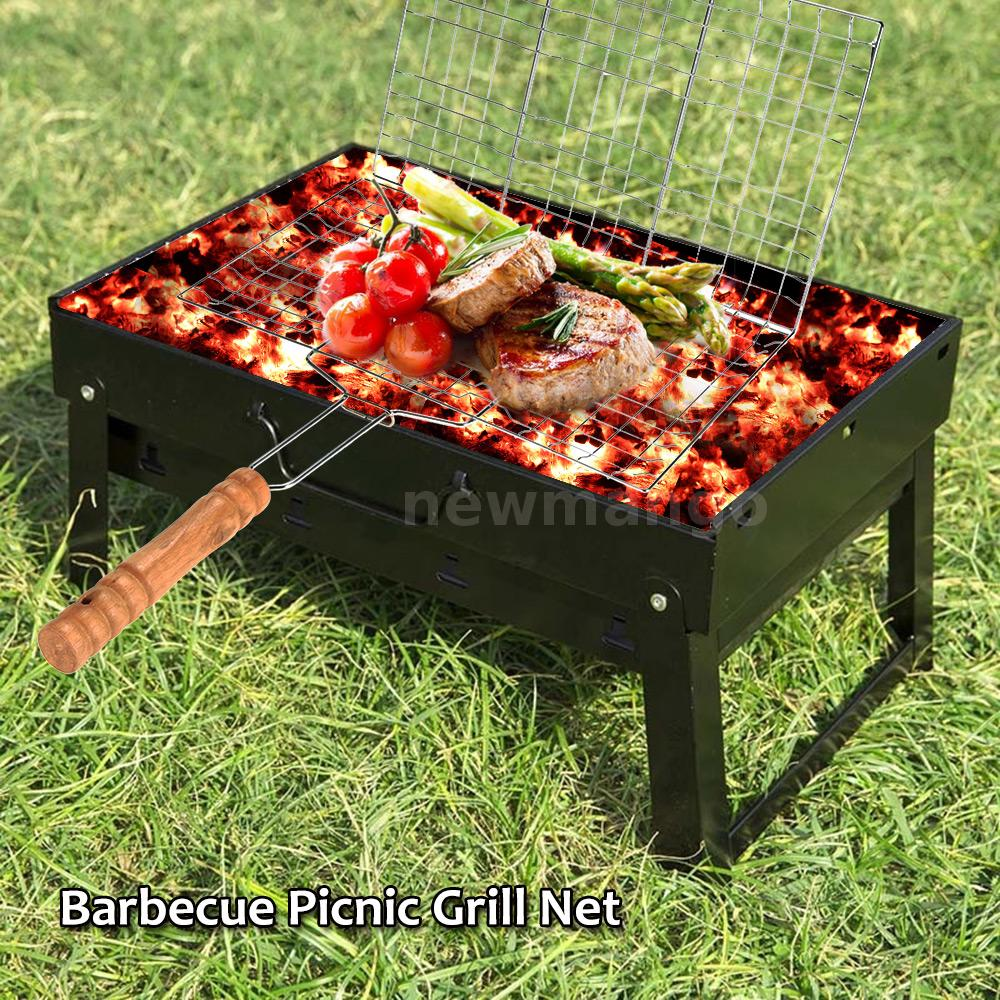 PORTABLE PATIO CHARCOAL BARBECUE GRILL BBQ COOKING PICNIC GRID NET GAUGE G7L9 | eBay