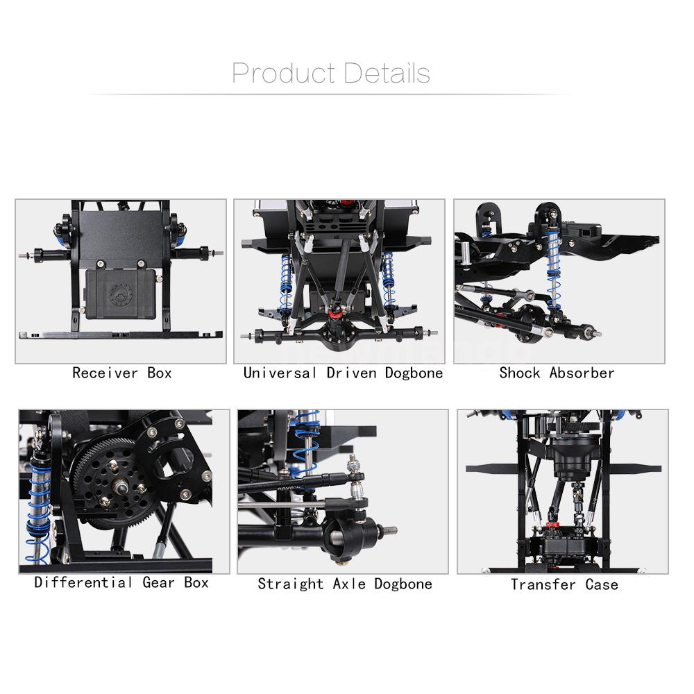 Cool AX-D9001 All metal CNC Frame for 1/10 D90 Rock Crawler Car KIT ...